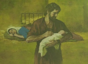 St Joseph taking care of Jesus